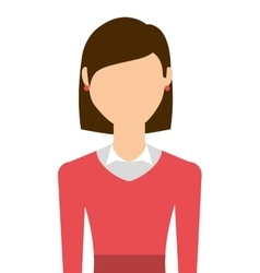 casual young woman isolated icon design vector image