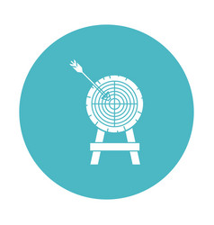 Circle light blue with arrow on target vector