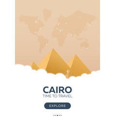 egypt cairo time to travel travel poster vector image