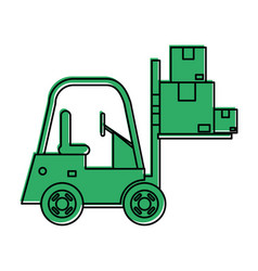 Forklift machinery icon image vector