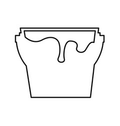 Paint pot isolated icon vector