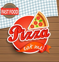 Pizza Label and Sign vector image vector image