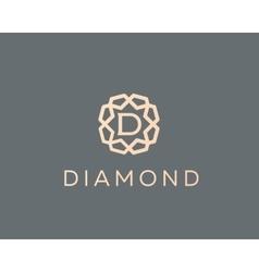 Premium letter d logo icon design luxury vector