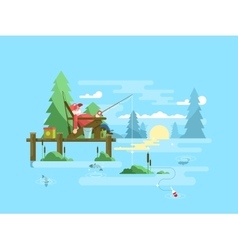 Rest fishing design vector image