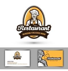 Restaurant logo cafe diner or bistro icon vector