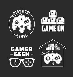 retro video games related t-shirt design set vector image