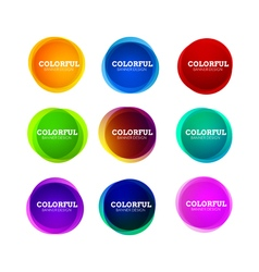Set of colorful round abstract banners shape vector image vector image