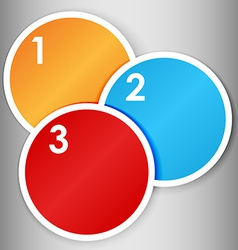 Set of numbered round stickers vector