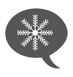 snowflake decoration christmas icon vector image