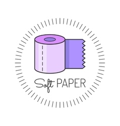 Toilet paper colored flat icon vector