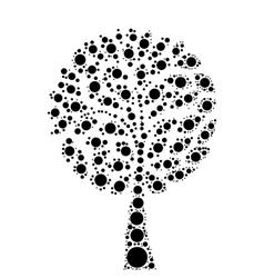 Tree mosaic of dots vector image vector image
