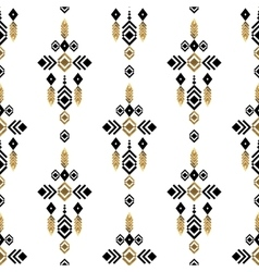 Tribal gold ornament vector