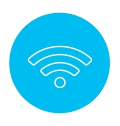 Wifi sign line icon vector image vector image