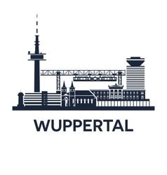 Wuppertal Skyline Emblem vector image vector image