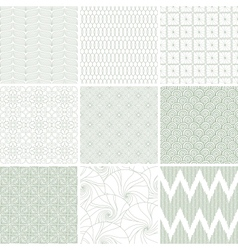 Retro seamless patterns set vector