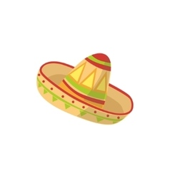 Mariachi hat mexican culture symbol vector