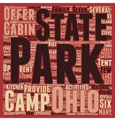 Ohio state parks text background wordcloud concept vector