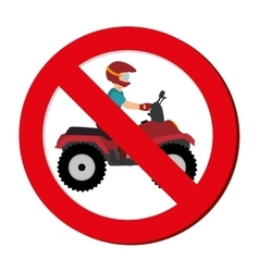 Prohibited sign extreme sport athlete avatar vector