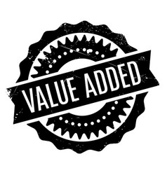 Value added rubber stamp vector