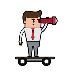 cartoon businessman icon image vector image
