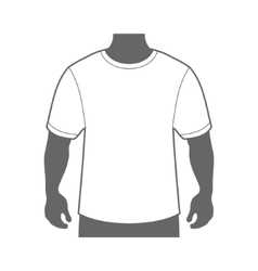 Blank t-shirt men body silhouette vector