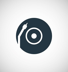 Vinyl turntable icon vector
