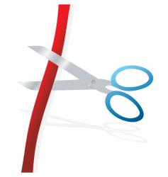 cutting the ribbon vector image