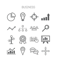 Set of simple isolated business icons vector