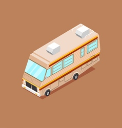 Cartoon isometric motorhome vector