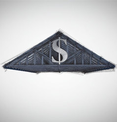 Money roof vector