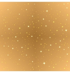 Abstract gold seamless background golden starry vector