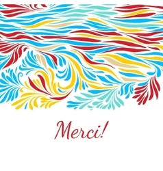 Black and white hand drawn merci background vector