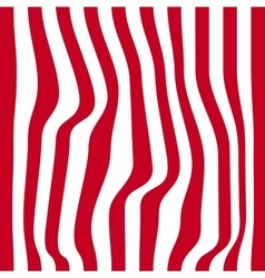Striped abstract background red and white zebra vector