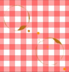 Tablecloth Ring Stains vector image