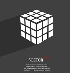 A three sided cube puzzle box in 3d symbol flat vector