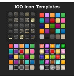 App Icon Templates Set vector image vector image