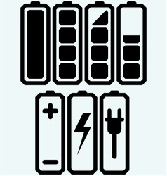 Battery charge level indicators vector