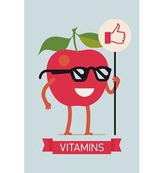 Bright vitamins banner vector