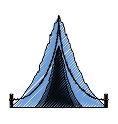 camping tent isolated vector image vector image