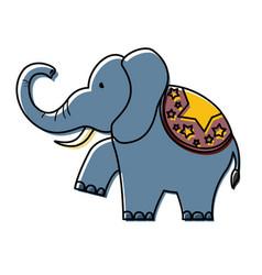 cartoon circus animals design vector image