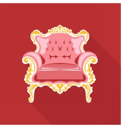 Digital golden and pink vintage chair vector image vector image