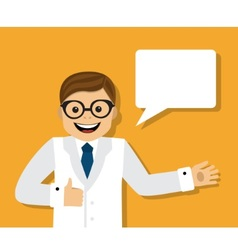 Doctor gives advice vector