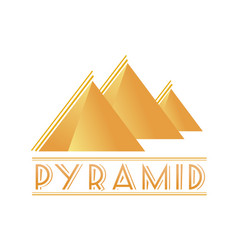 egyptian pyramids logotype vector image