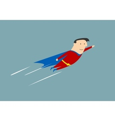Flying businessman hero vector image