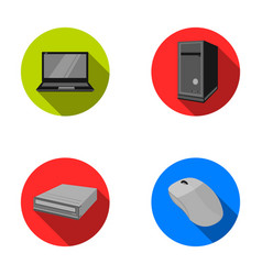 Laptop computer mouse and other equipment vector