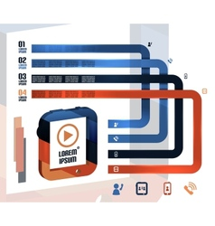 Modern 3d tablet infographics vector image