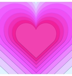 Multi-layered heart background vector