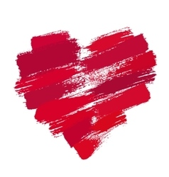 Painted Heart from Brush Strokes vector image