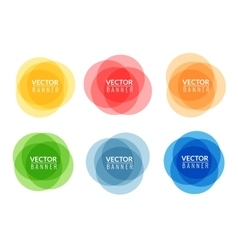 Set of colorful round abstract banners Graphic vector image