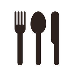 spoon fork and knife sign vector image vector image